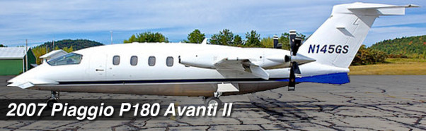 2007 Piaggio P180 Avanti II S/N 1145 Business Jet For Sale