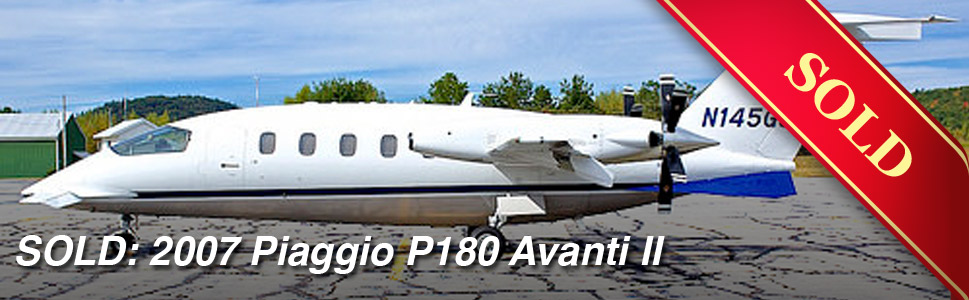 sold: 2007 piaggio p180 avanti ii s/n 1145 | east coast jet center
